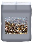 Pebbles On The Shore Duvet Cover