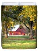 Pecan Orchard Barn Duvet Cover