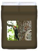 Pecking Woodpecker Duvet Cover