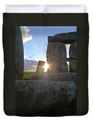 Peek-a-boo Sun At Stonehenge Duvet Cover
