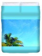 Peekaboo Palm - Tropical Art By Sharon Cummings Duvet Cover