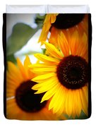 Peekaboo Sunflowers Duvet Cover