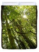 Peeking In Costa Rica Rain Forest Duvet Cover
