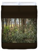 Peeking Through The Trees Duvet Cover