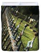 Peeling Graveyard Perspective Duvet Cover