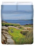 Peggy's Cove From Lighthouse-ns Duvet Cover