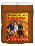 Pekingese Art - 55 Days In Peking Movie Poster Duvet Cover