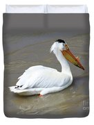 Pelecanus Eerythrorhynchos Duvet Cover