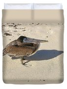 Pelican And His Shadow Duvet Cover