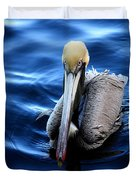 Pelican In The Bay Duvet Cover