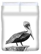 Monterey Pelican Pooping Duvet Cover