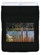 Pelican On A Stick Duvet Cover