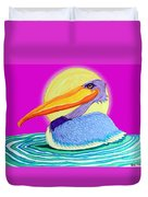 Pelican On The Water 2 Duvet Cover
