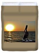 Pelican Sunset 2 Duvet Cover