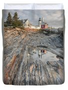 Pemaquid Point Light Iv Duvet Cover