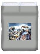 Pemaquid Rocks Duvet Cover