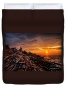 Pemaquid Sunrise  Duvet Cover by Jerry Fornarotto
