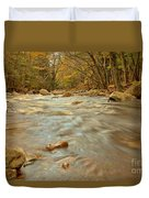 Pemigewasset River Rushing By Duvet Cover