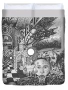 Pen And Ink World 1 Duvet Cover