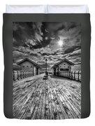 Penarth Pier 2 Monochrome Duvet Cover