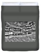 Penarth Pier 6 Monochrome Duvet Cover