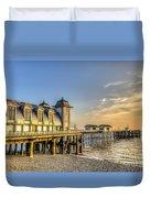 Penarth Pier Dawn Duvet Cover