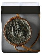Pendent Wax Seal Of The Council Of Calahorra Duvet Cover