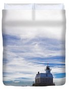 Penfield Reef Lighthouse Fairfield Connecticut Duvet Cover