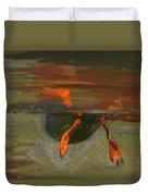 Penguin From Under Water Duvet Cover