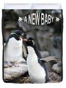 Penguin New Baby Card Duvet Cover