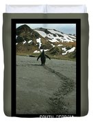 Penguin Travel Poster Duvet Cover