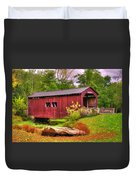 Pennsylvania Country Roads - Everhart Covered Bridge At Fort Hunter - Harrisburg Dauphin County Duvet Cover