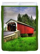 Pennsylvania Country Roads - Forry's Mill Covered Bridge - Lancaster County Spring No. 2 Duvet Cover