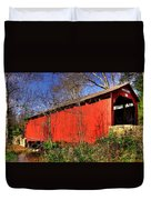 Pennsylvania Country Roads - Wagoners Covered Bridge Over Bixlers Run - Perry County Duvet Cover