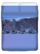 Pennsylvania Snowy Wonderland Duvet Cover