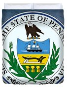 Pennsylvania State Seal Duvet Cover