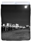 Pensacola Beach At Night Duvet Cover