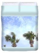 Pensacola Palms Duvet Cover