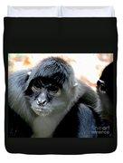 Pensive Monkey Duvet Cover