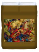 Penstemon Abstract 2 Duvet Cover