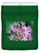 Pentas 'cranberry Punch' Flowers Duvet Cover