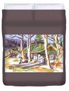 Penuel Lodge In Winter  Duvet Cover