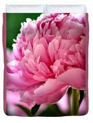 Peonies In The Pink Duvet Cover