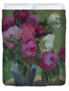 Peonies In The Shade Duvet Cover