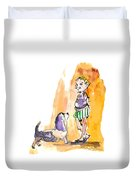 People And Their Dogs 01 Duvet Cover