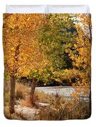 People Fishing In The Rio Grande River Duvet Cover