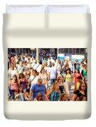 People In New York Duvet Cover