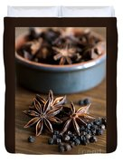 Pepper And Spice Duvet Cover by Anne Gilbert