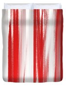 Peppermint Stick Abstract Duvet Cover