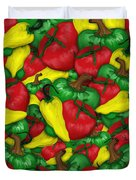 Peppers And Tomatos Duvet Cover